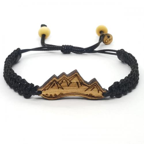 Drewniana bransoletka Góry - pleciona
